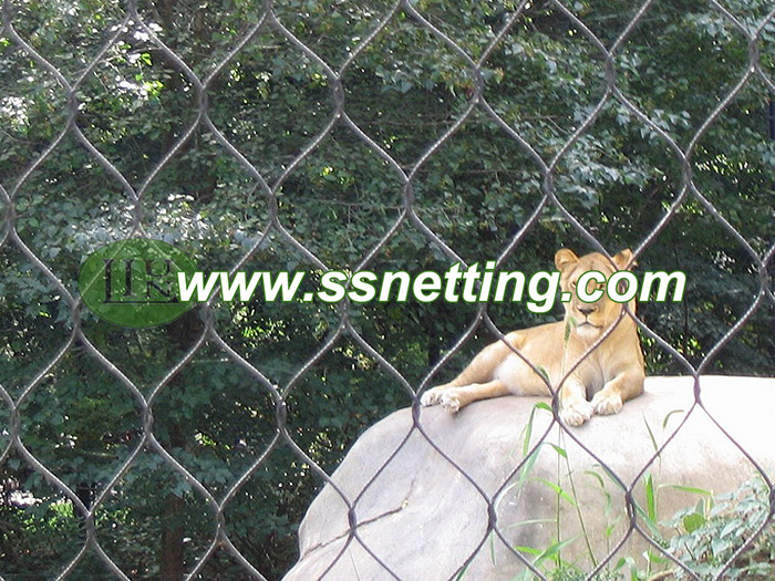 Zoo mesh code 1/8inch x 3inch for lion barrier netting
