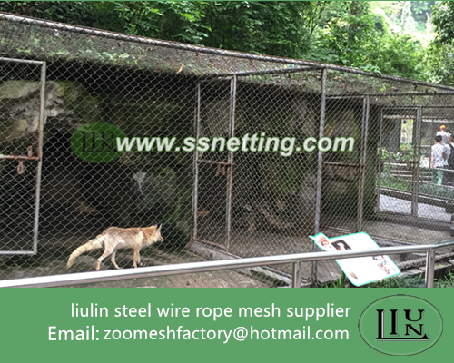 zoo wolf cage mesh, stainless steel wolf enclosure fence supplier, wire rope wolf cage enclosure mesh, wolf fence mesh, stainless steel wolf enclosure mesh