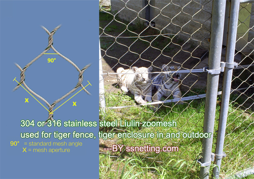 Lion cage mesh designing and selection