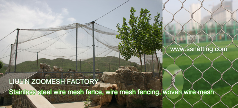 wire rope netting mesh for bird parks