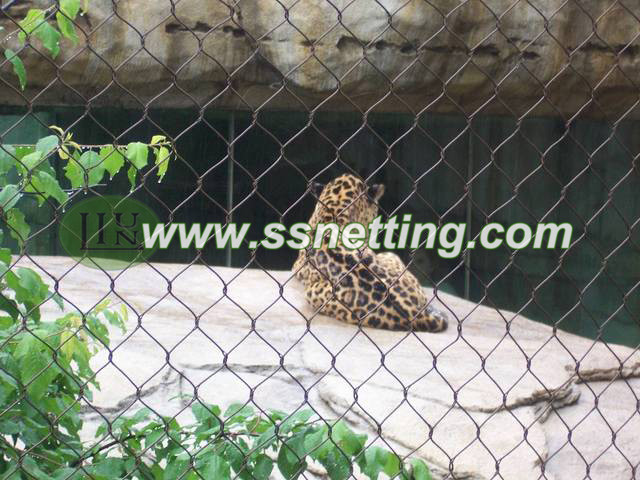 Stainless steel animal cage fence, Liulin ZooMesh, ss wire netting mesh
