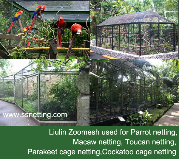 Custom made Parrots cage netting