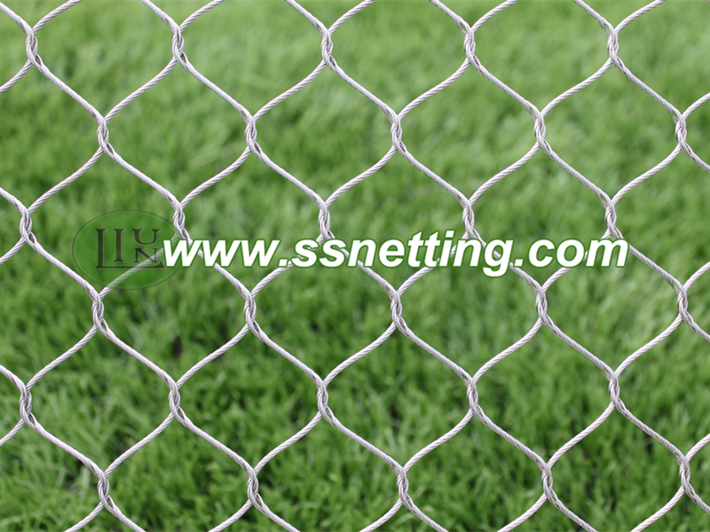 Stainless steel special protective mesh, zoo safe fence mesh, stainless steel isolation netting