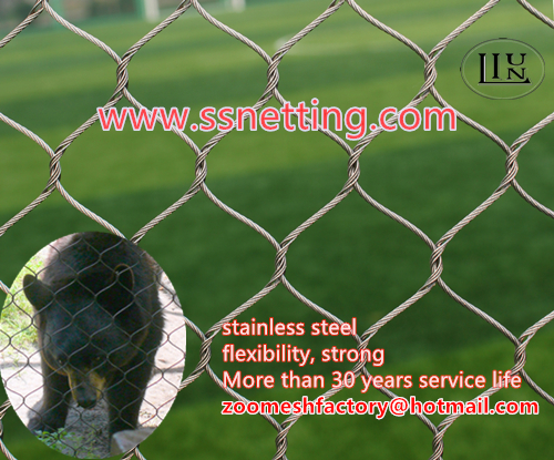 bear cage fence mesh, black bear protection net, stainless steel bear enclosure fence mesh, bear safety fence net, black bear fence, stainless steel bear fence