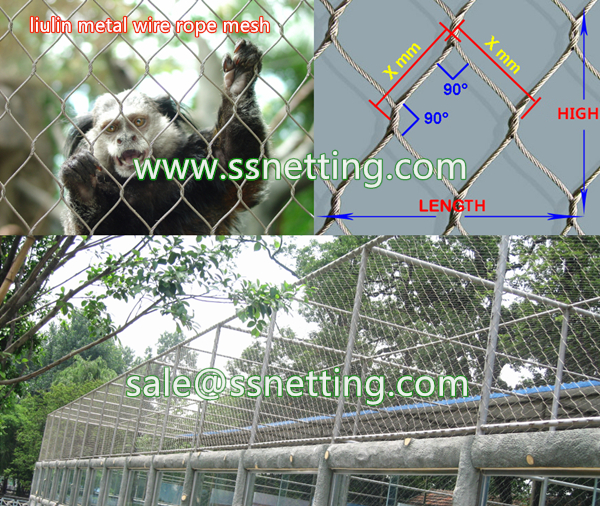 Small animal cages fence mesh, safety enclosure mesh for cats cagest, big cat protect fence net, metal mesh for zoo enclosure mesh