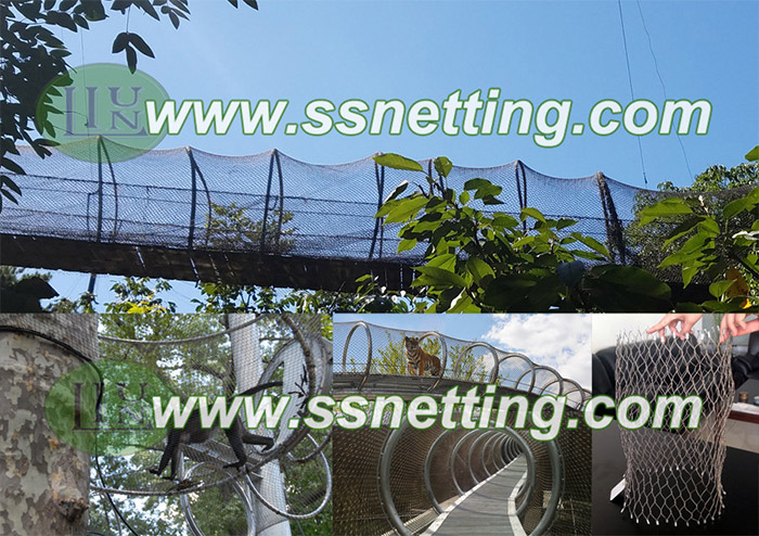 animal cage tunnel mesh, cylindric zoo fencing