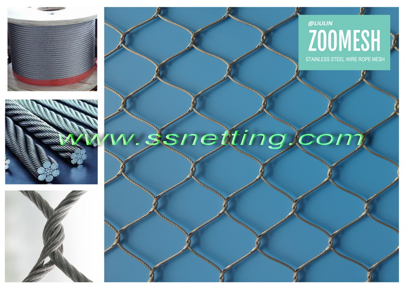 304 stainless steel wire rope zoo mesh