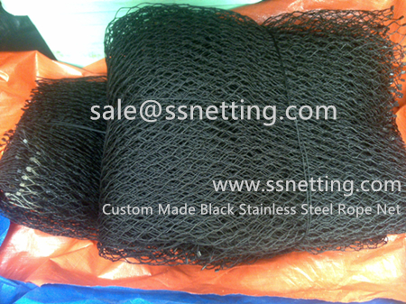 custom stainless steel cable braid mesh/ wire rope netting