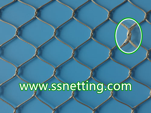 Stainless steel rope braided mesh is a kind of wire rope braid netting by hand woven.