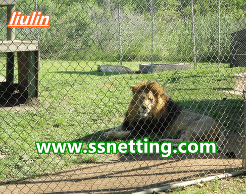 Lion fence netting, lion fence mesh, lion fence enclosure - stainless steel rope netting