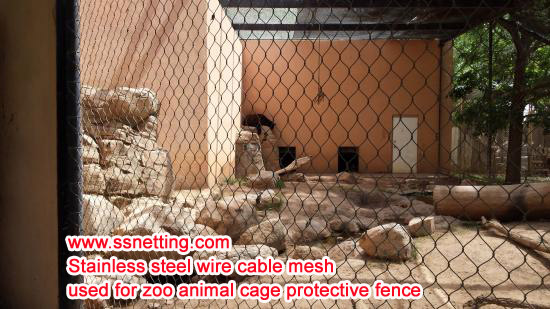 Stainless steel wire cable mesh used for zoo animal cage protective fence