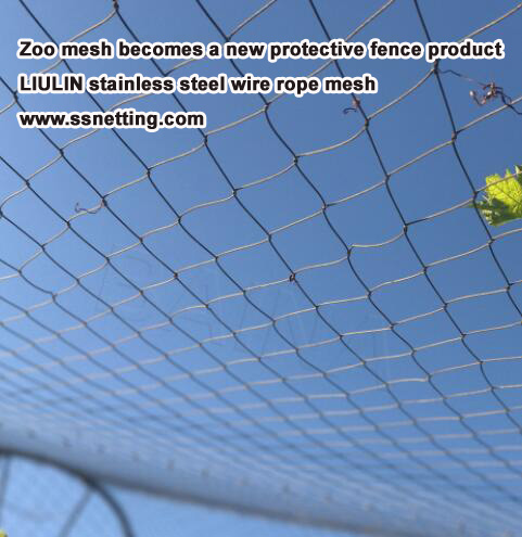 Stainless steel wire cable mesh for zoo