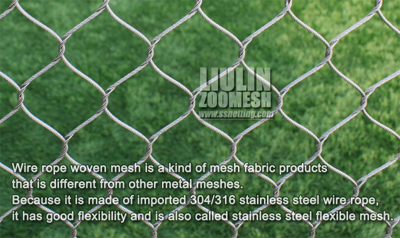 Wire rope woven mesh