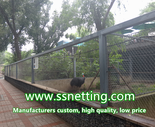 wire rope netting fence, rope mesh enclosure, stainless steel wire cable netting