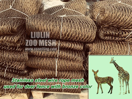 stainless steel wire rope mesh used for deer fence with bronze color.jpg