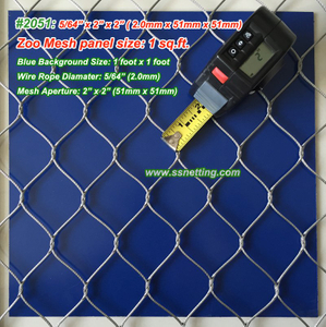 "Stainless Steel Wire Mesh 5/64"", 2"" X 2"", ( 2.0mm, 51mm X 51mm)"