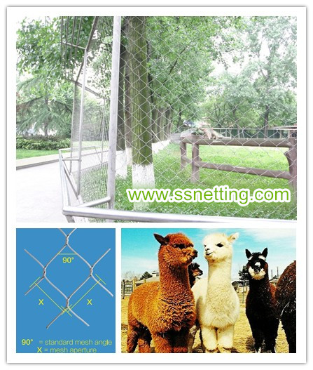 Alpaca fence netting in zoological parks.jpg