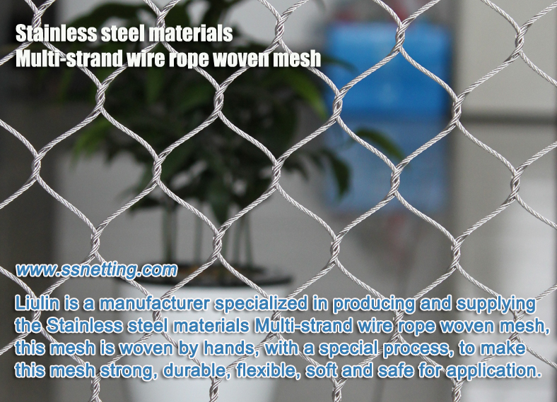 Stainless steel materials Multi-strand wire rope woven mesh