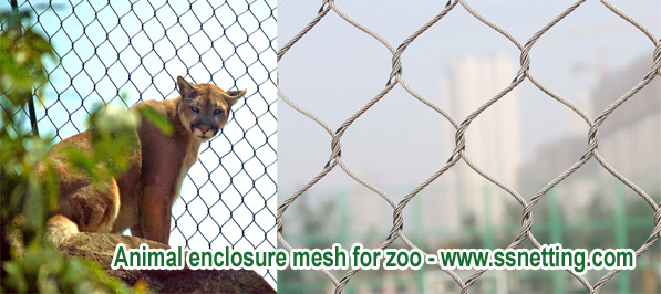 Animal enclosure mesh for zoo