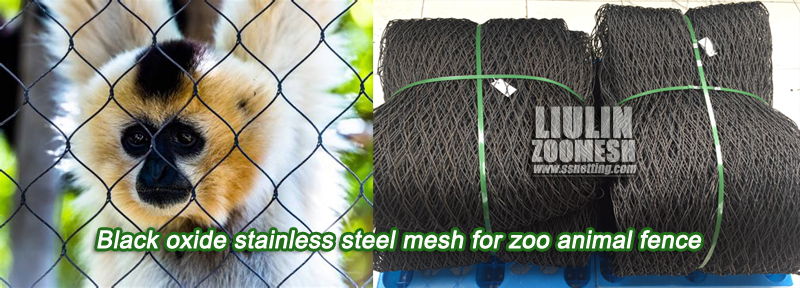 Black oxide stainless steel mesh for zoo animal fence