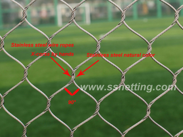 stainless stSelection of Stainless Steel Wire Rope Mesh in Zoo Reconstruction