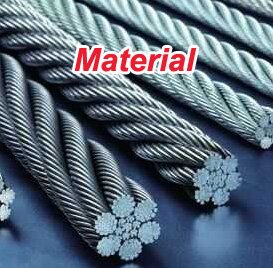 Materials of Stainless steel wire rope woven mesh