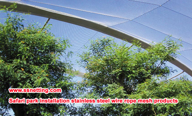 Safari park installation stainless steel wire rope mesh products