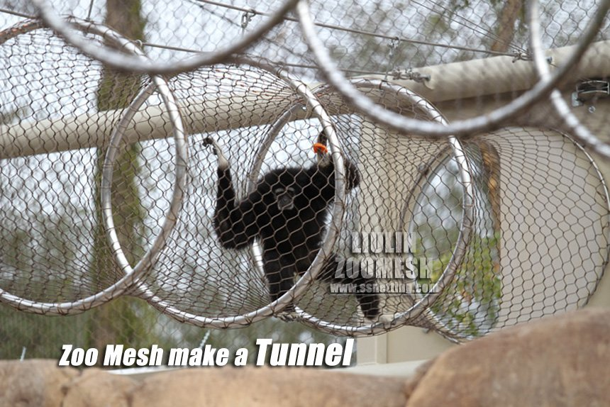 stainless steel wire rope mesh used as an animal channel