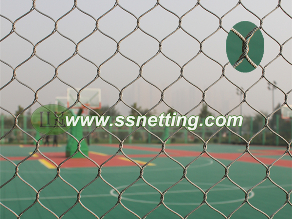 wire rope netting mesh used for sports field fencing