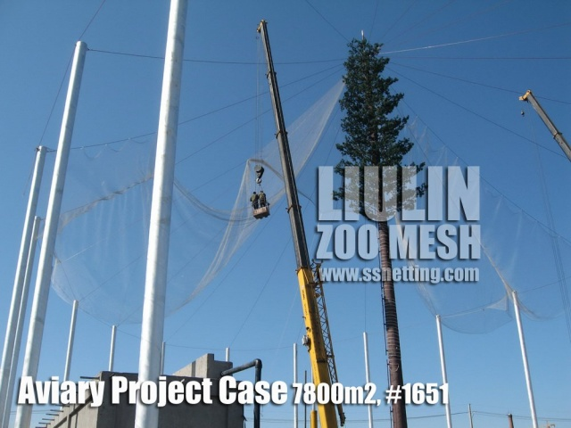 Aviary Netting Installation Case