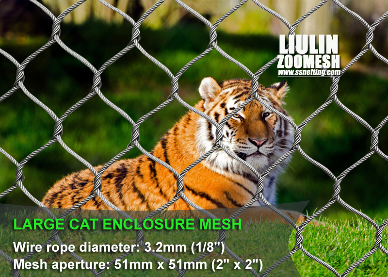 Large cat enclosure mesh