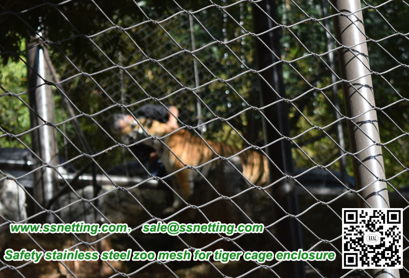 Safety stainless steel zoo mesh for tiger cage enclosure
