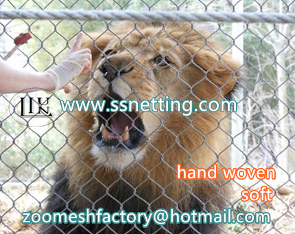 Lion cage enclosures for stainless steel wire mesh, hand woven mesh of china liulin supplier