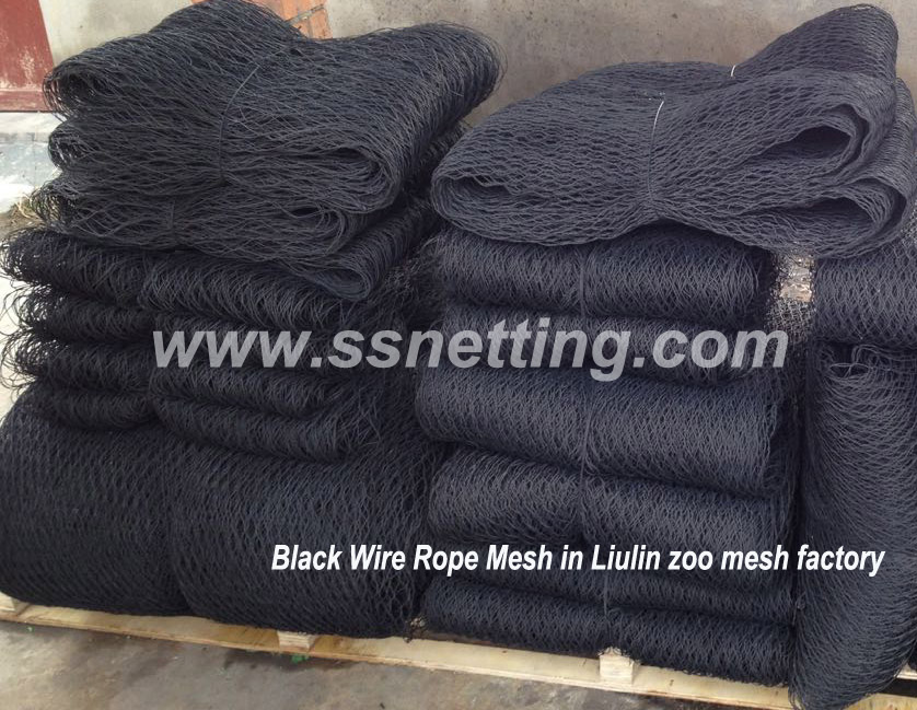 Black Wire Rope Mesh