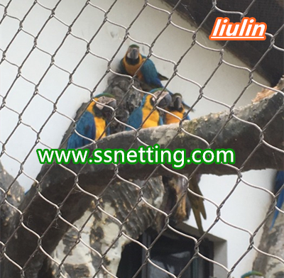macaw parrot cage fence netting manufacturer custom macaw enclosure fence mesh