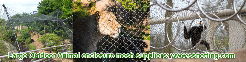 Large Outdoor Animal enclosure mesh suppliers www.ssnetting.com