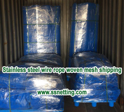 Stainless steel wire rope woven mesh order and shipping