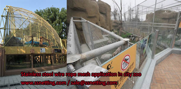 Stainless steel wire rope mesh application in city zoo