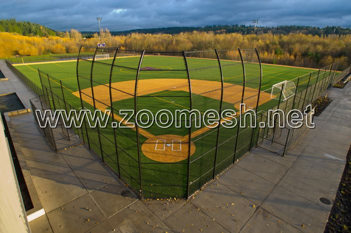 Stainless steel wire rope mesh used for stadium fencing