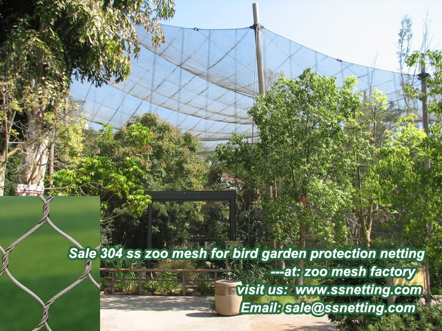 Sale 304 ss zoo mesh for bird garden protection netting