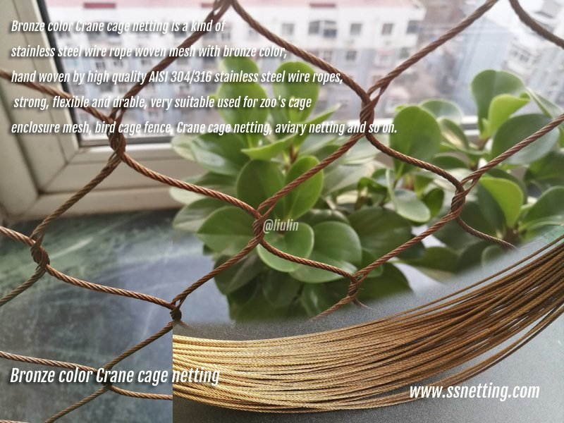 Bronze color Crane cage netting.jpg