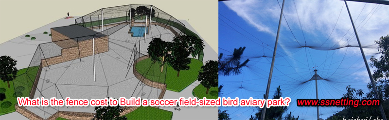 What is the fence cost to Build a soccer field-sized bird aviary park