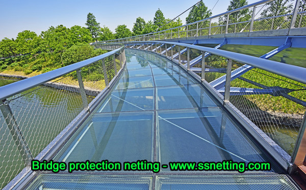 Bridge protection netting