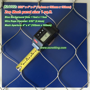"Stainless Wire Mesh Panels 3/32"", 4"" x 4"", ( 2.4mm, 102mm x 102mm)"