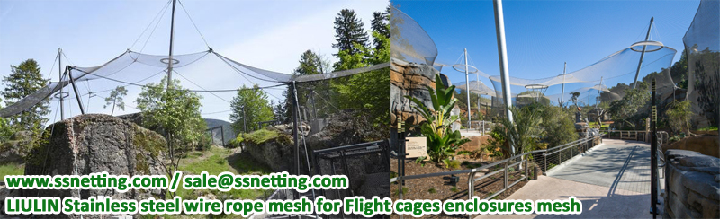 LIULIN Stainless steel wire rope mesh for Flight cages enclosures mesh