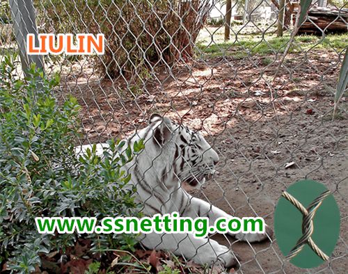 manufacturer supply tiger cage enclosure mesh, tiger fence netting