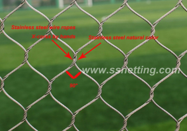 stainless steel wire rope mesh structure