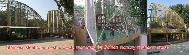 Stainless steel rope mesh projects case