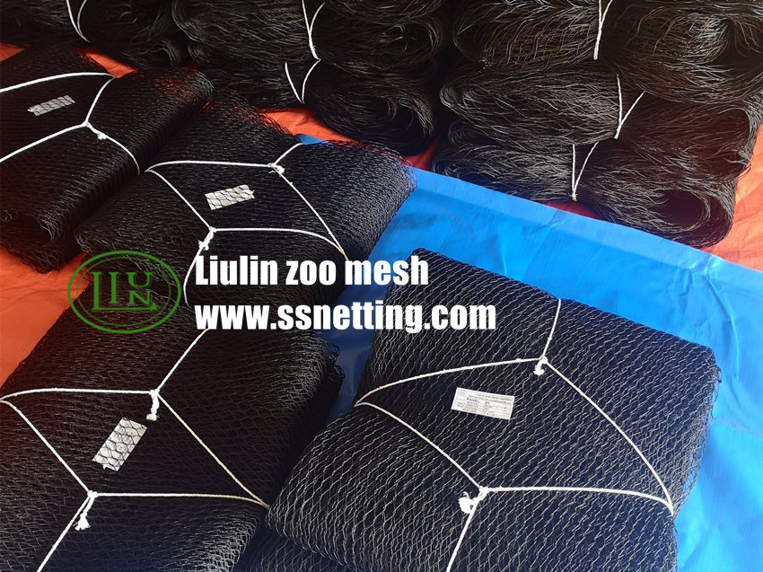 Black wire rope mesh product order finished