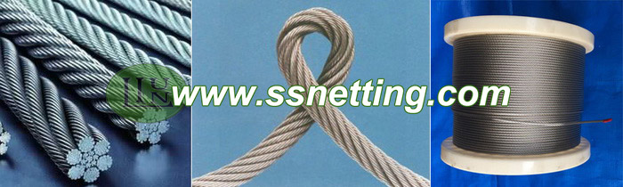 wire rope netting mesh, wire cable mesh